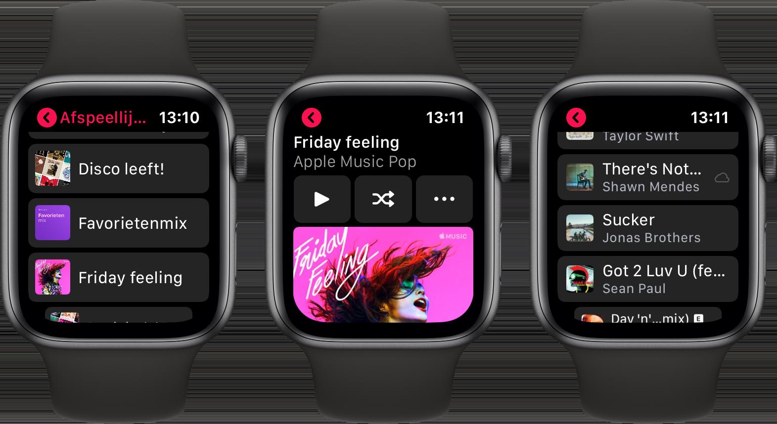 watchos 6 muziek app afspeellijsten 001