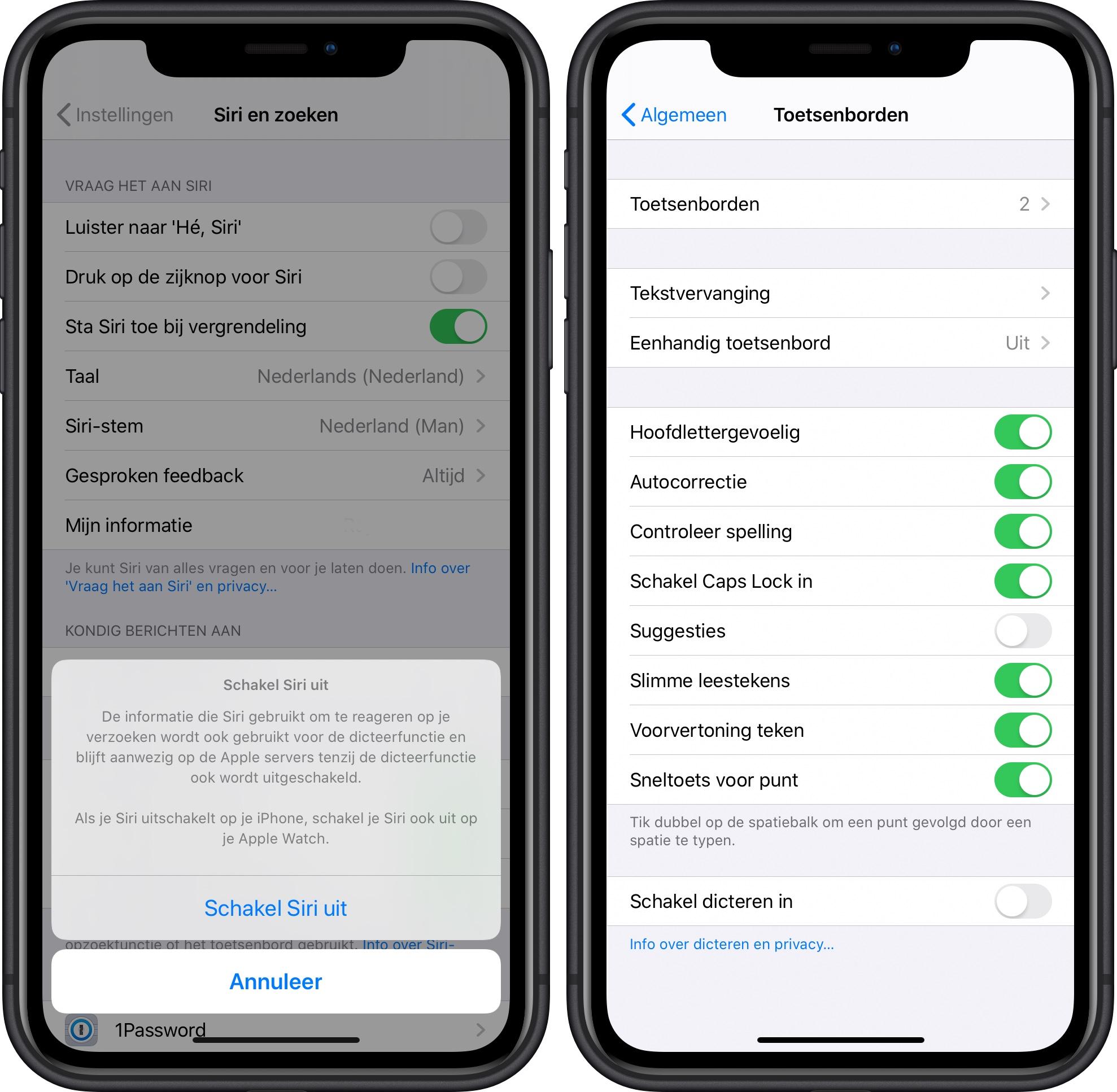 Apple Siri opname uitschakelen 001