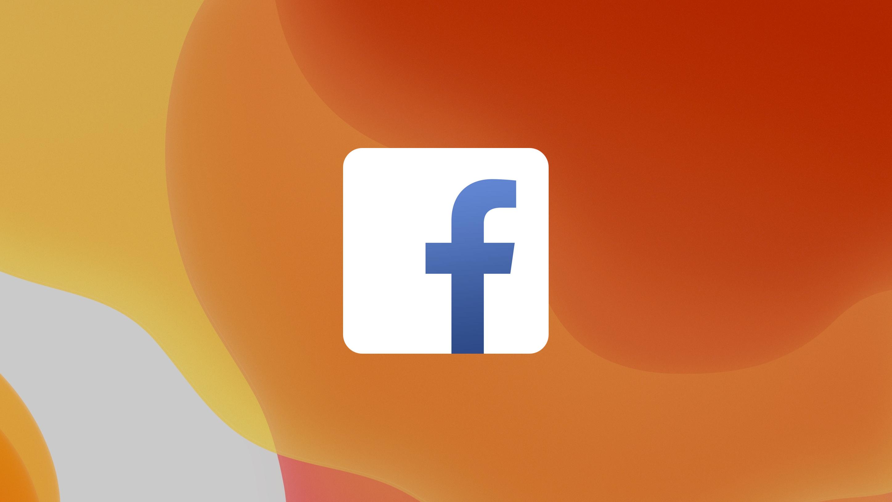 Facebook logo iOS 13 achtergrond 16x9