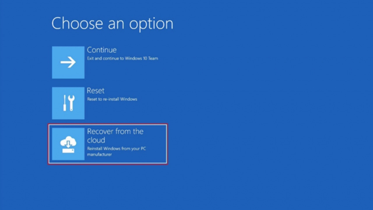 Windows Internet Recovery
