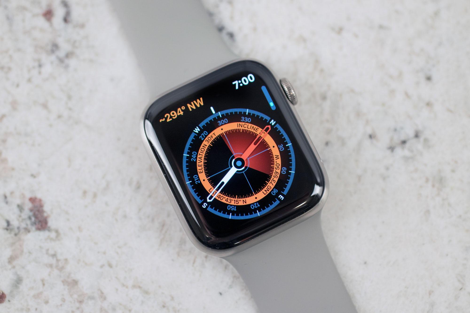 Apple Watch Series 5 kompas