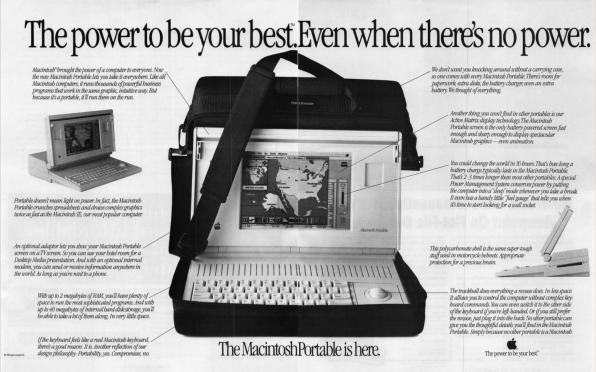 Macintosh Portable advertentie