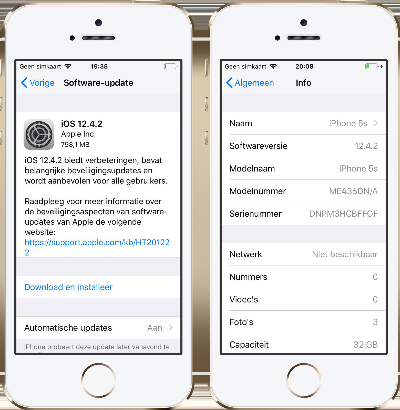 iOS 12.4.2 iPhone 5s
