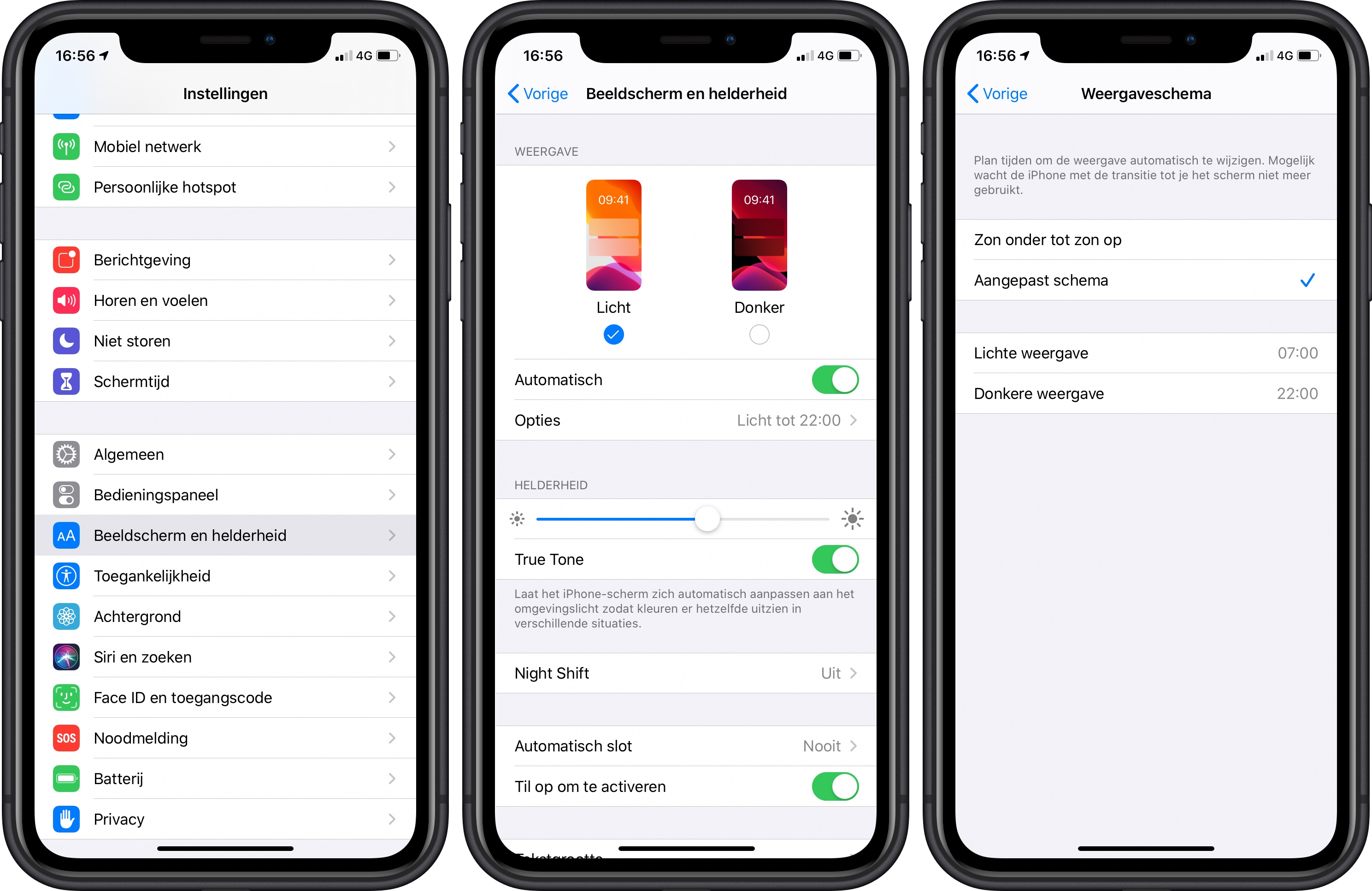 iOS 13 dark mode inschakelen