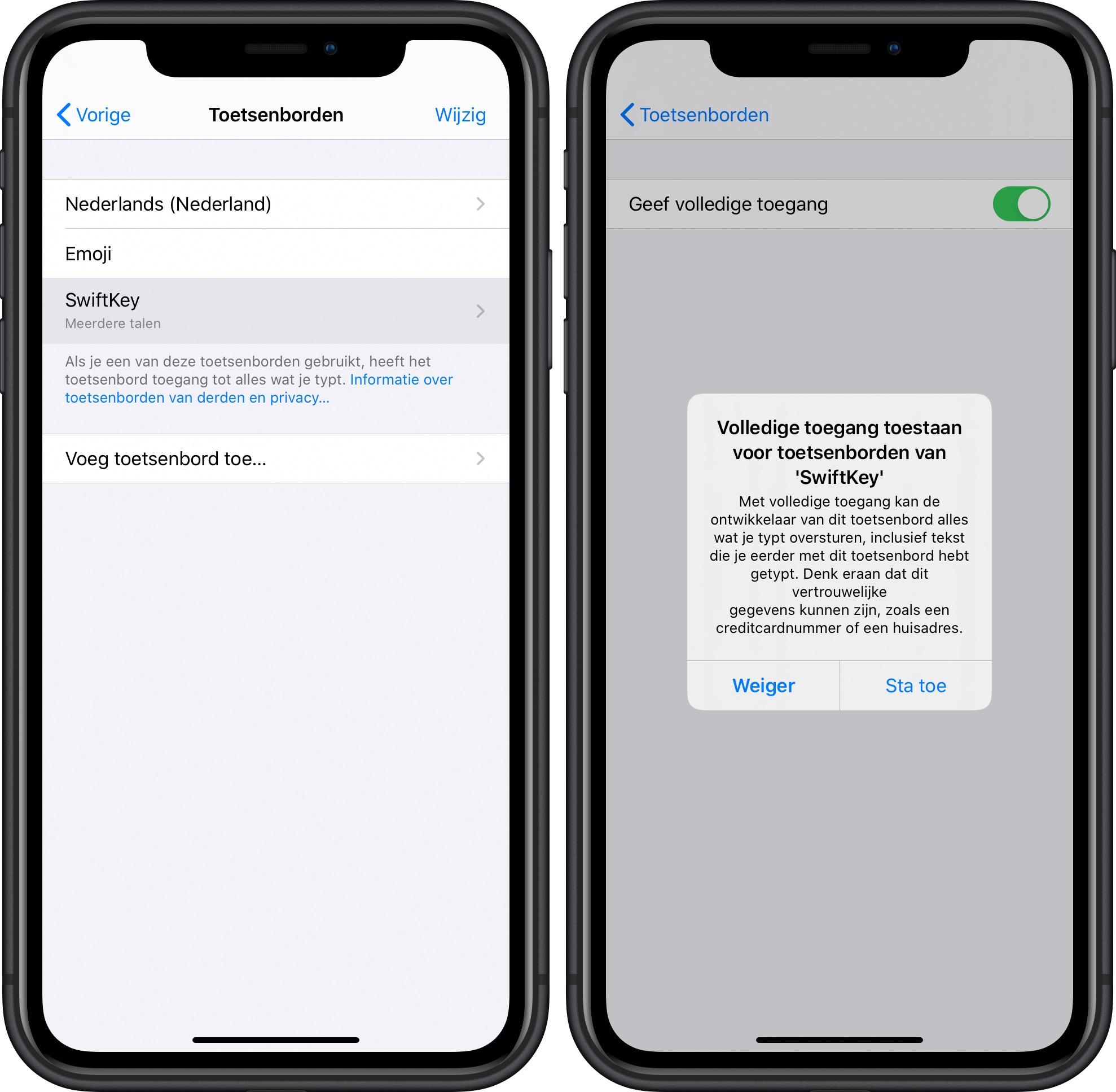 iOS 13 toetsenborden van derden bug 001