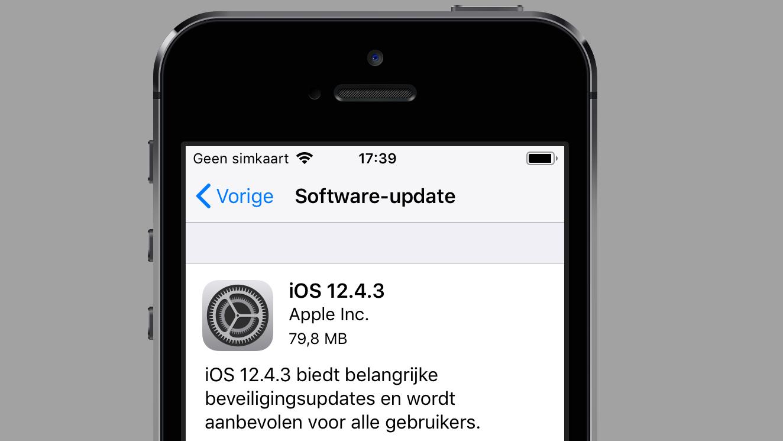 iOS 12.4.3 update