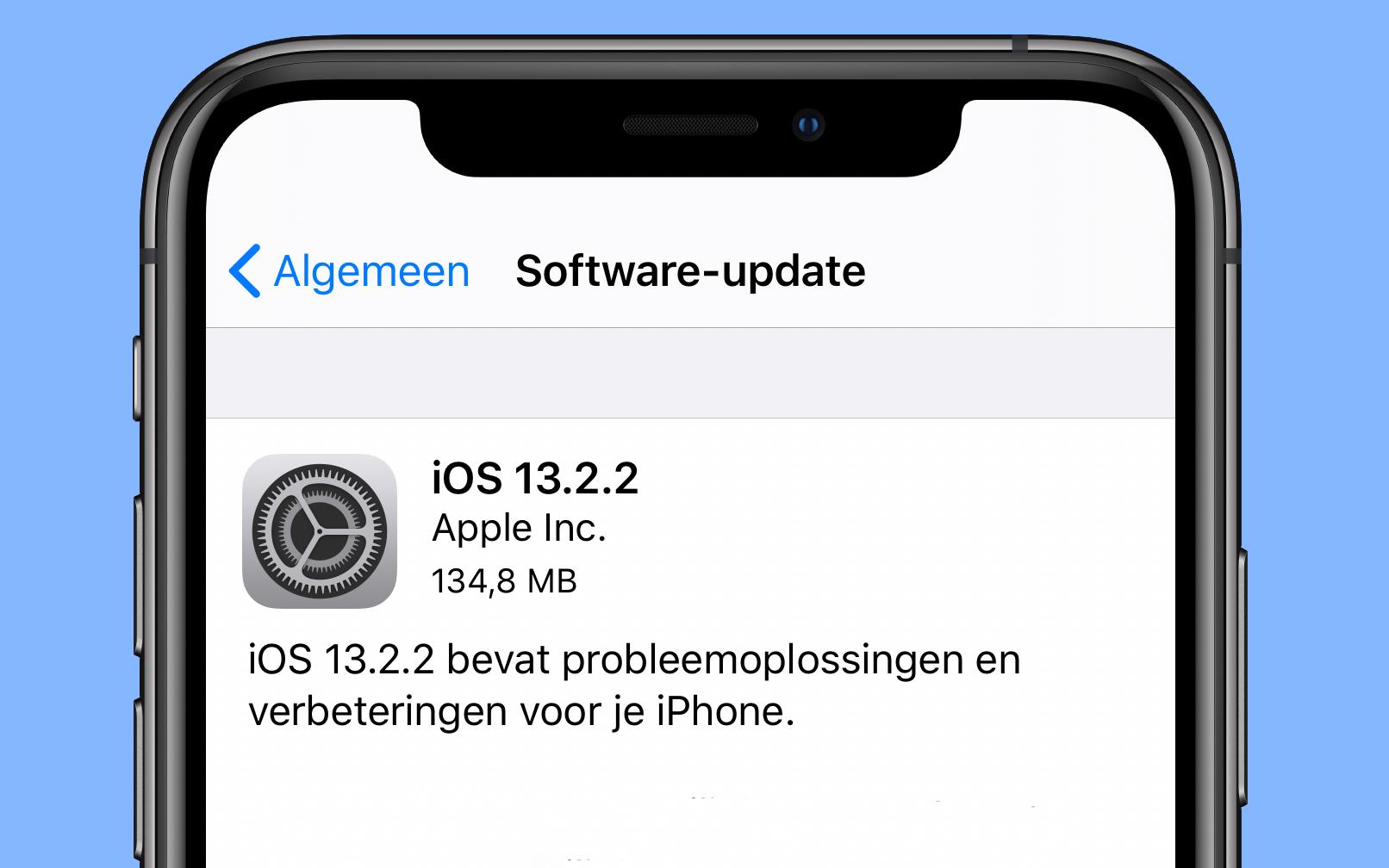 iOS 13.2.2 update 16x9