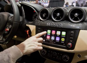 Apple CarPlay in een Ferrari
