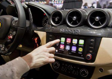 Apple CarPlay in een Ferrari