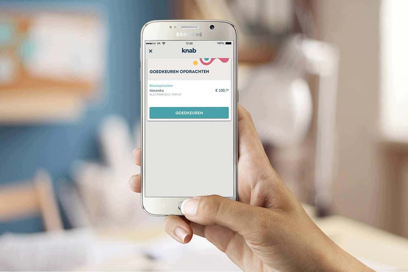 Knab telebankeren op smartphone