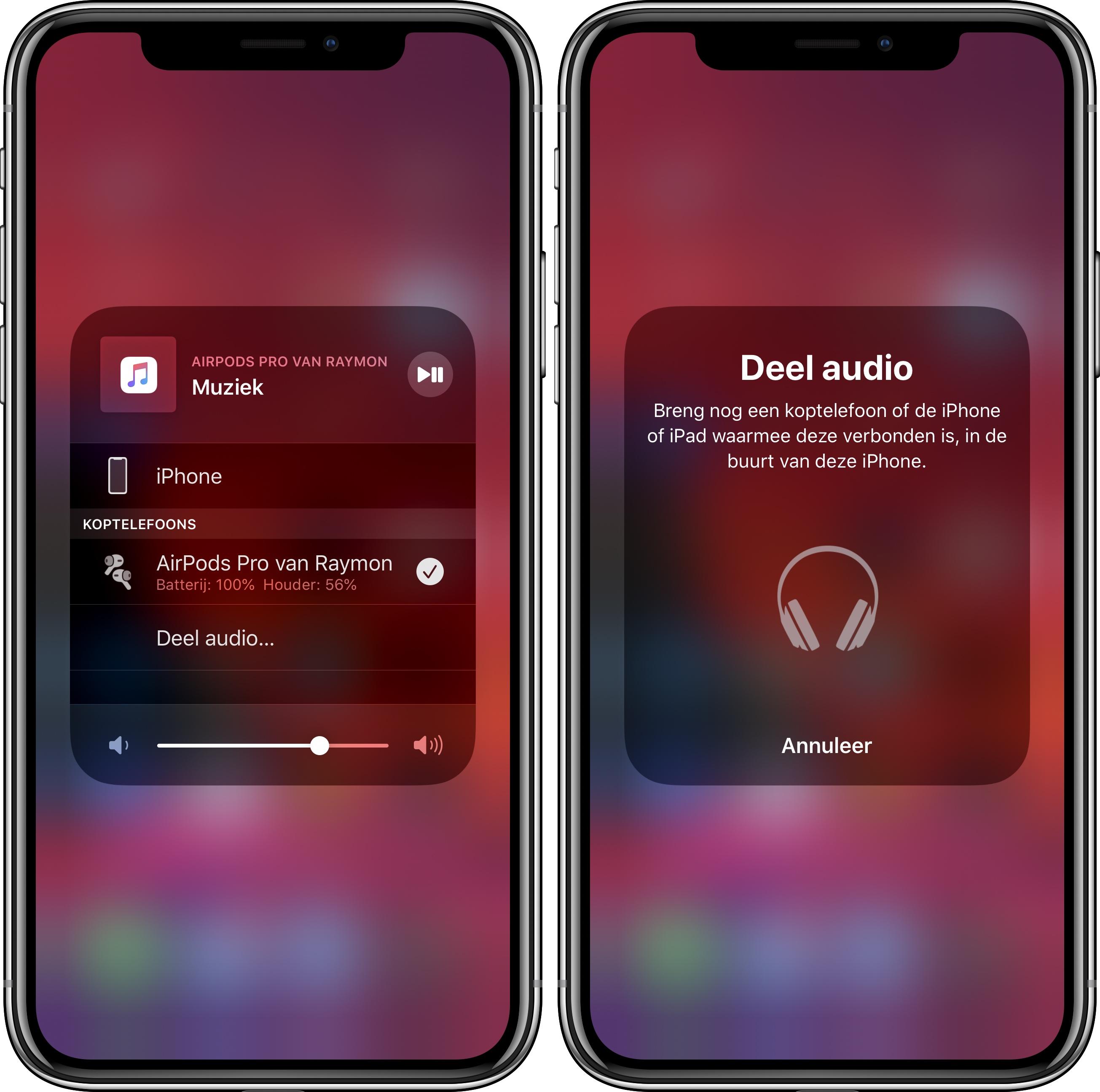 Deel audio iOS 13 001