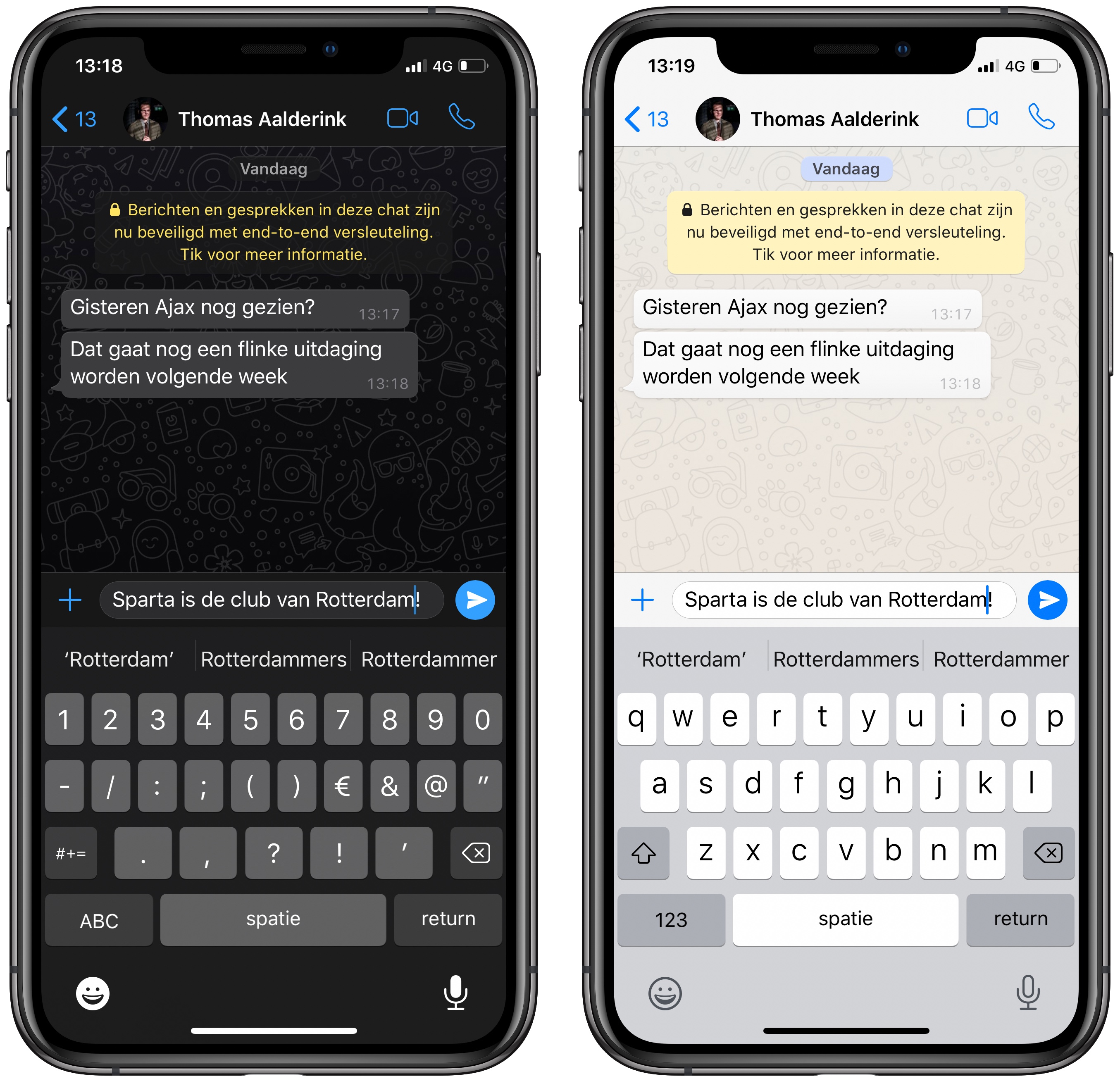 WhatsApp iOS iPhone Dark mode 001