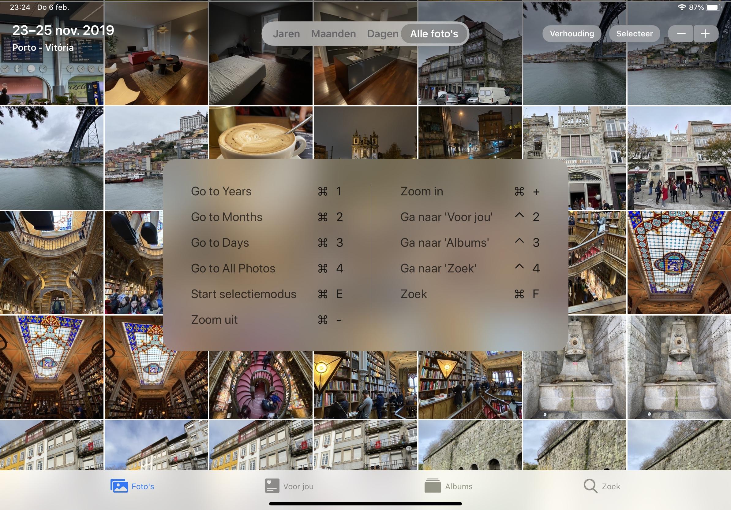 iPadOS 13.4 foto's-app sneltoetsen 001