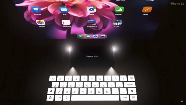 iPhone 12 toetsenbord projector