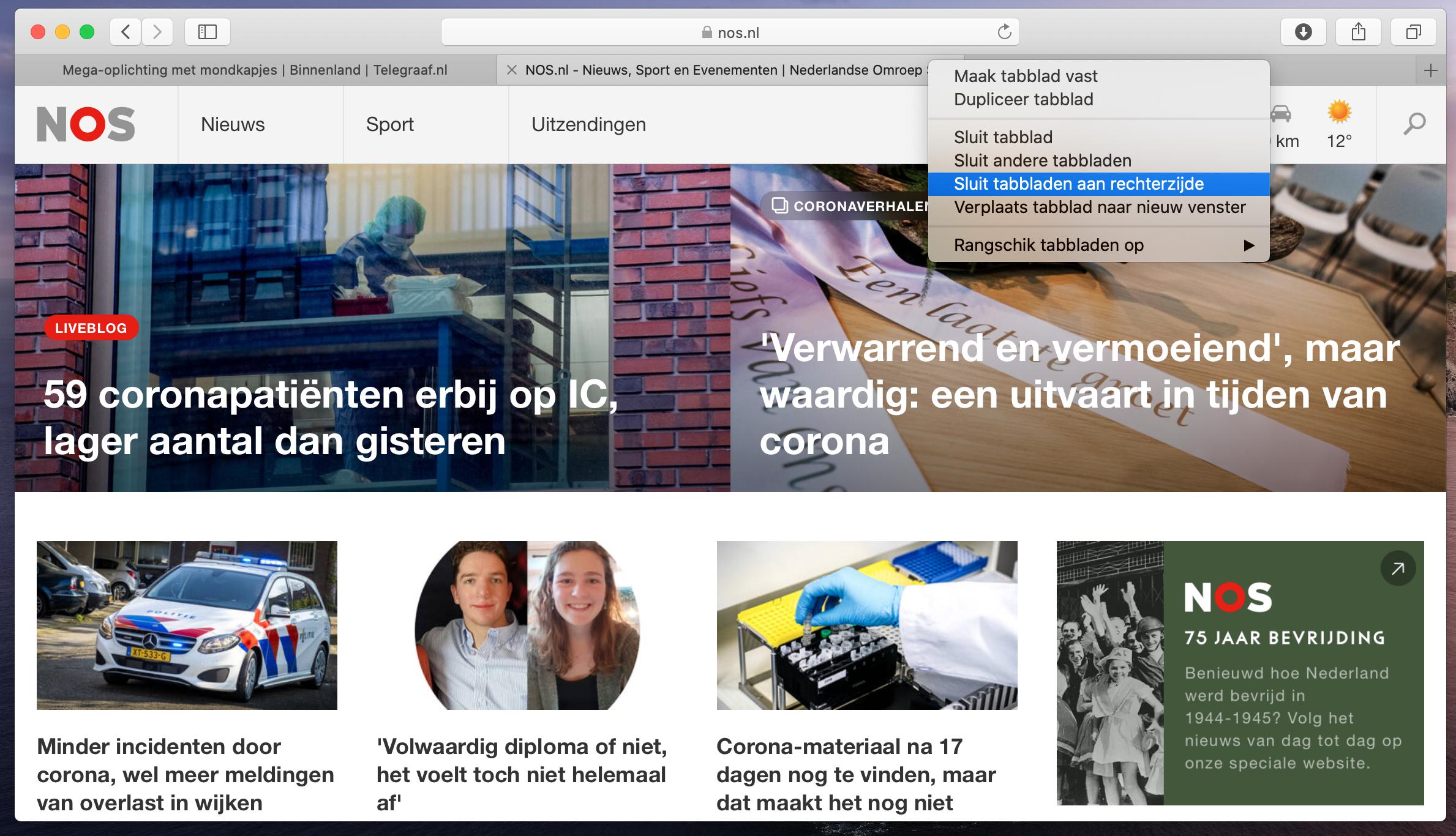 Safari macOS Catalina 10.15.4