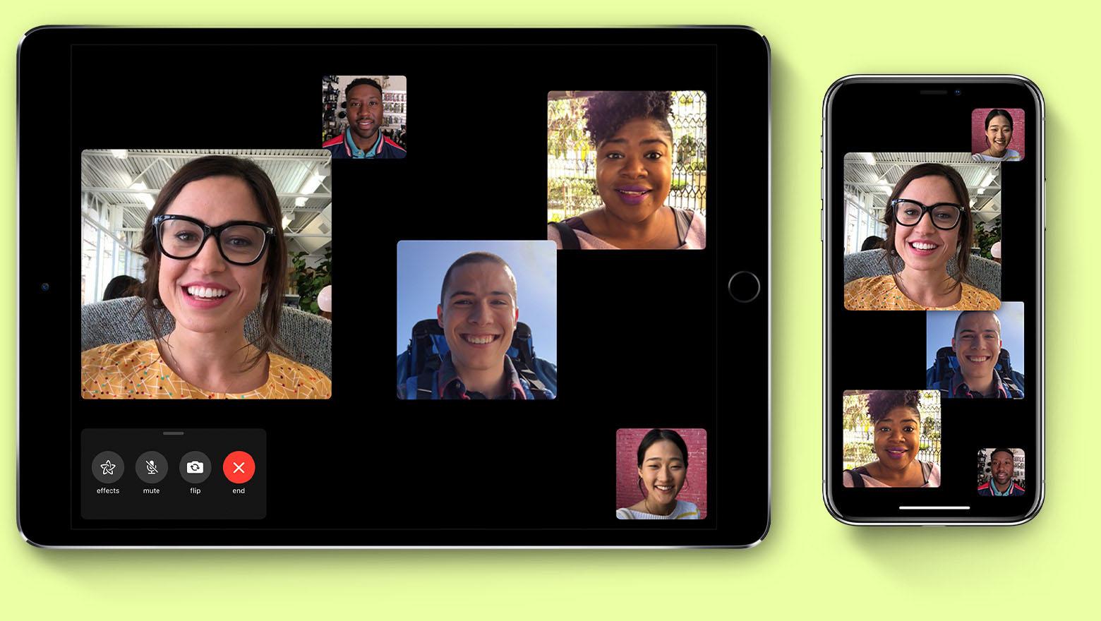 FaceTime groepsgesprek