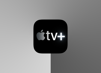 apple tv+ logo grijs 16x9