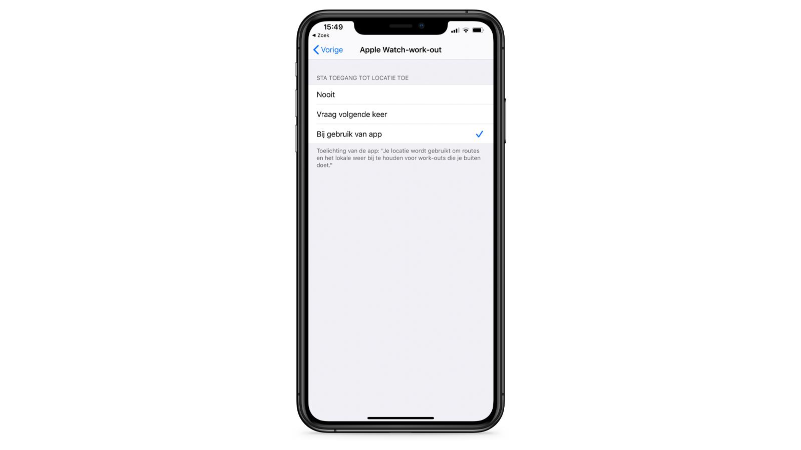 iPhone locatiedata iOS 13