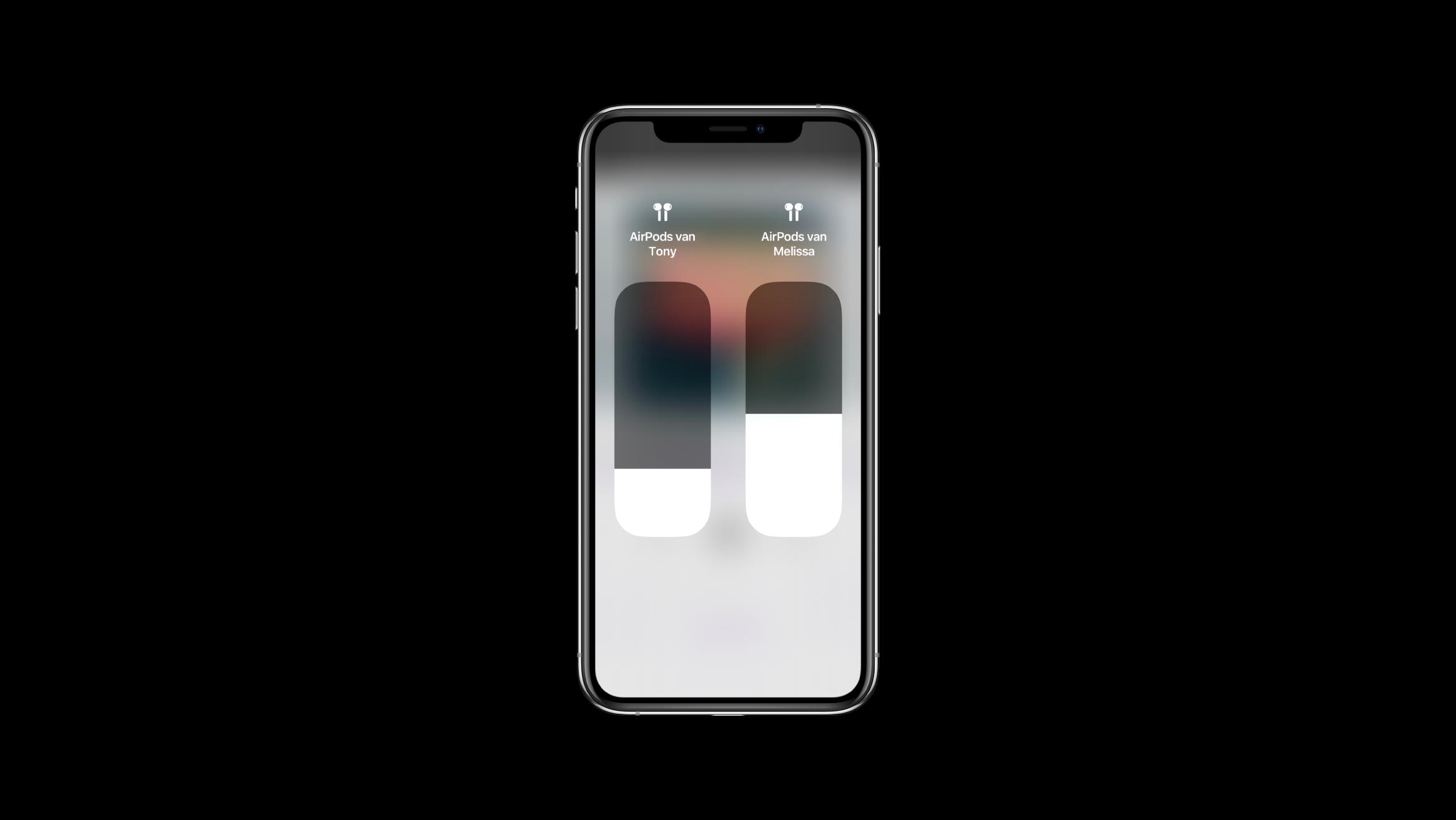 Audio delen iPhone