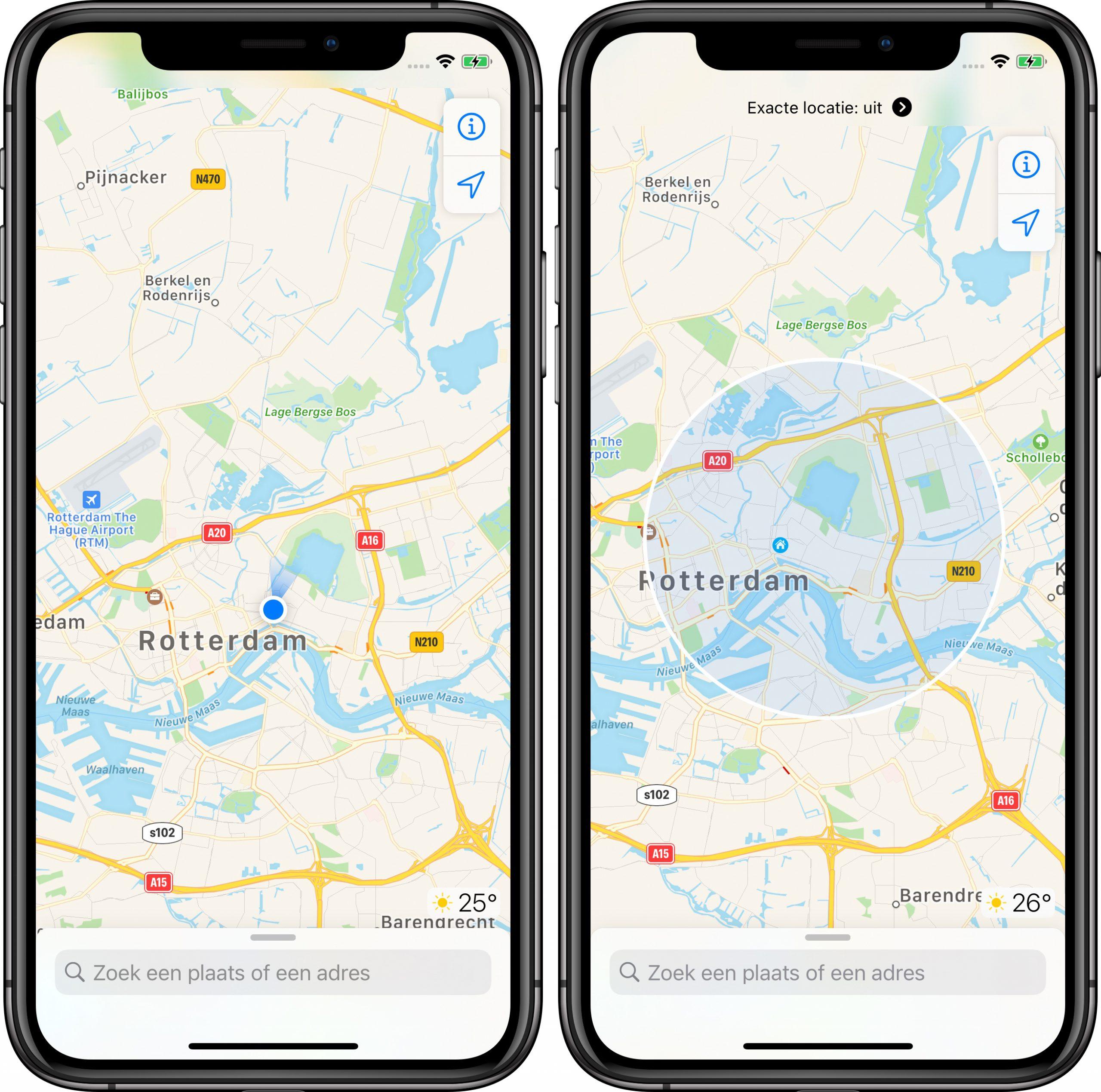 iOS 14 locatie bij benadering privacy 001
