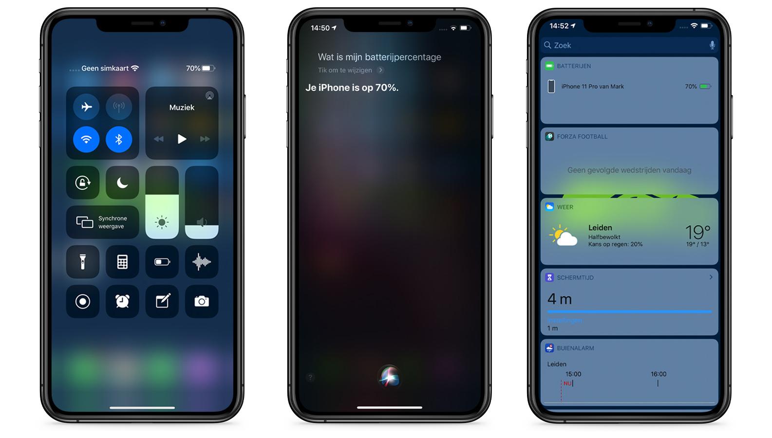 iPhone 11 batterijpercentage percentage batterij