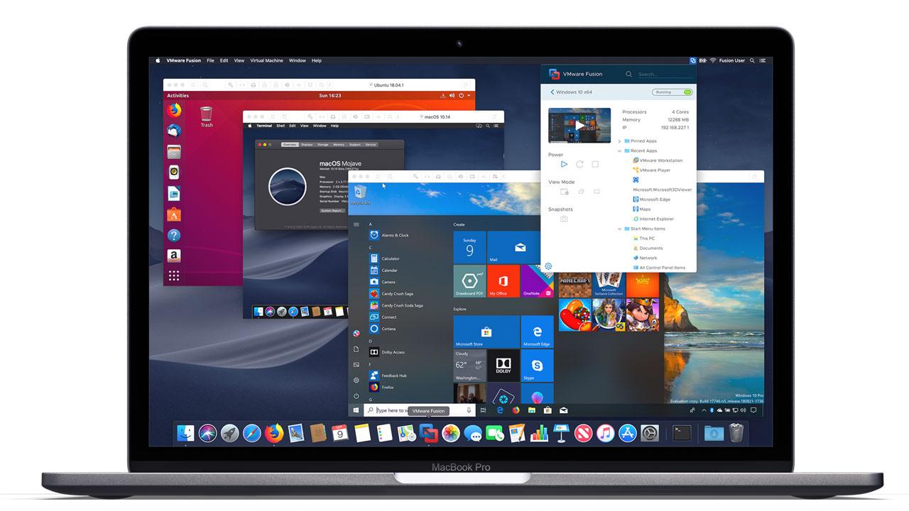 Mac Windows VMWARE Fusion