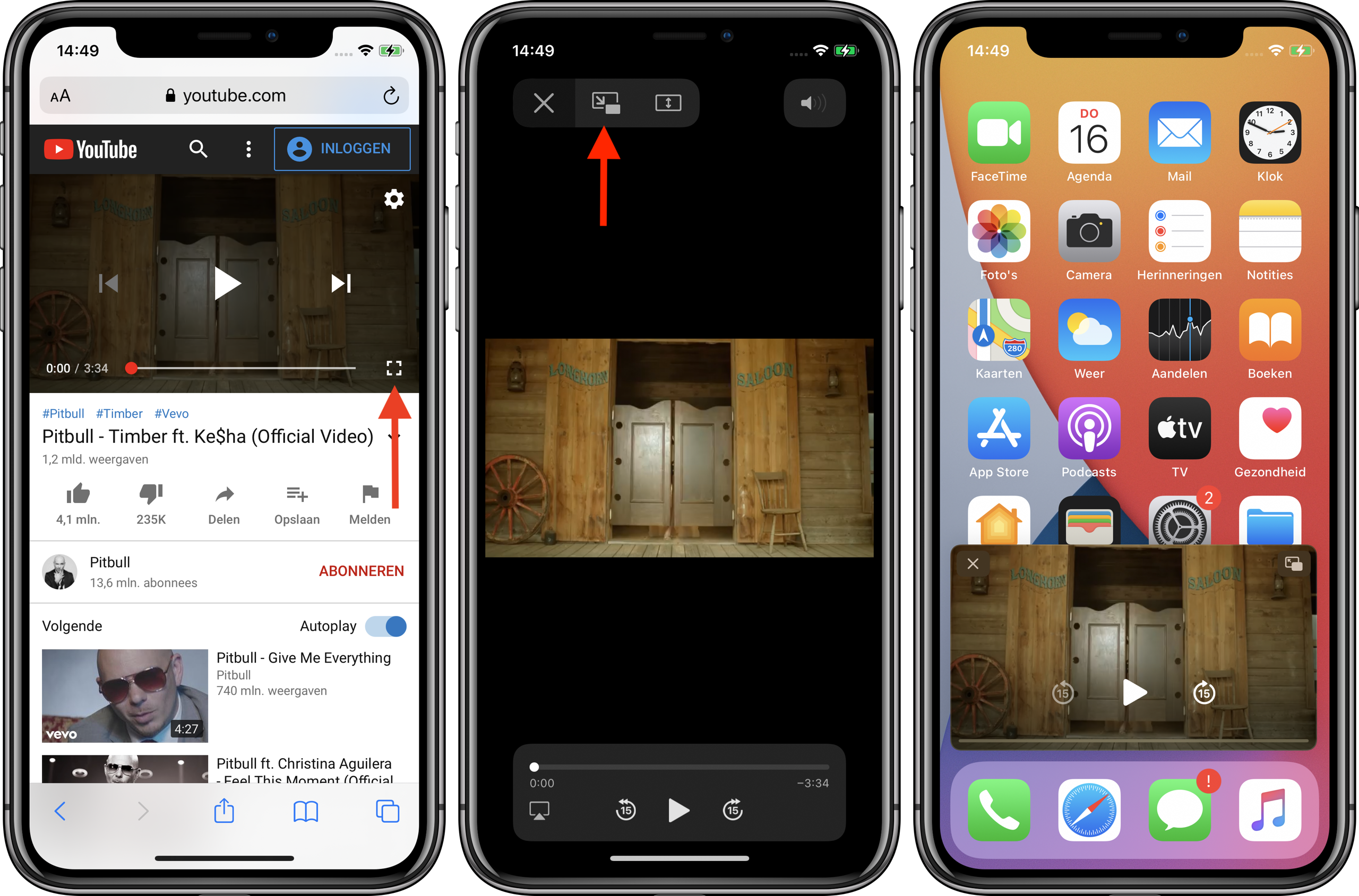 iOS 14 youtube picture in picture 001