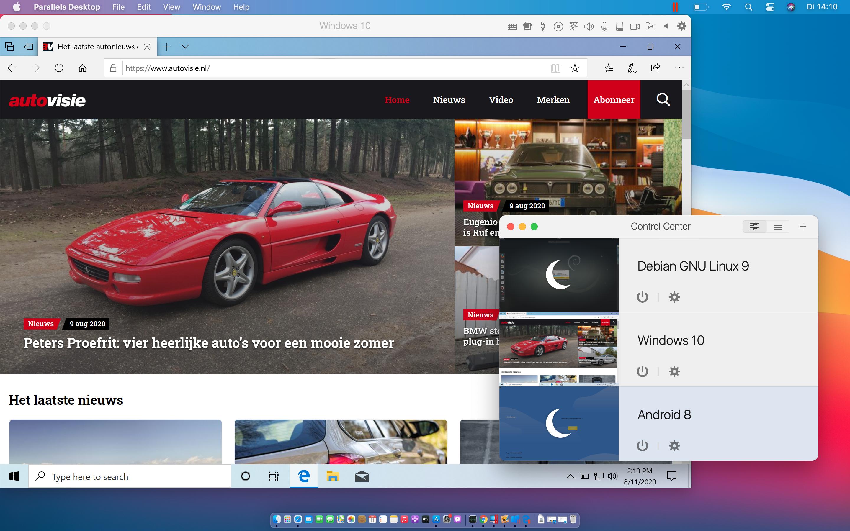 Parallels Desktop 16 macOS Big Sur