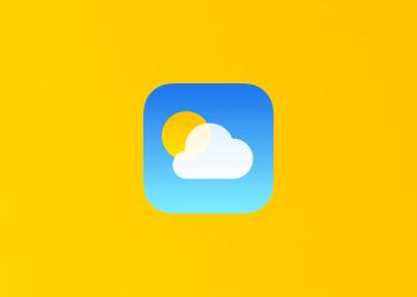 iOS 14 weer app icon 16x9