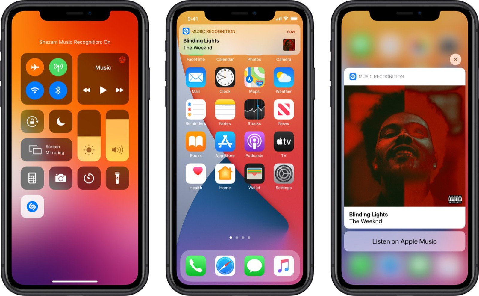 iOS 14.2 muziekherkenning