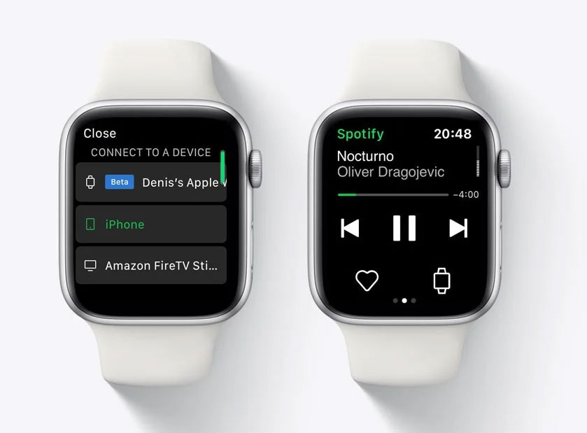 Spotify op Apple Watch
