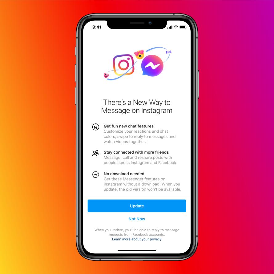 Facebook Messenger en Instagram Direct