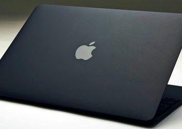 Matzwarte MacBook