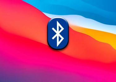 BigSur achtergrond met Bluetooth logo