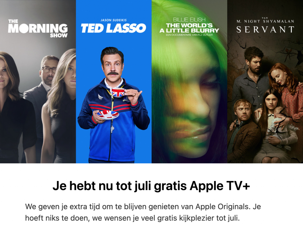 Apple TV Plus verlenging