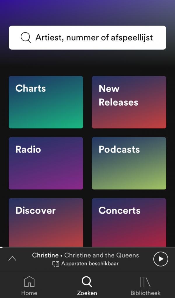 Update van Spotify app voor iOS