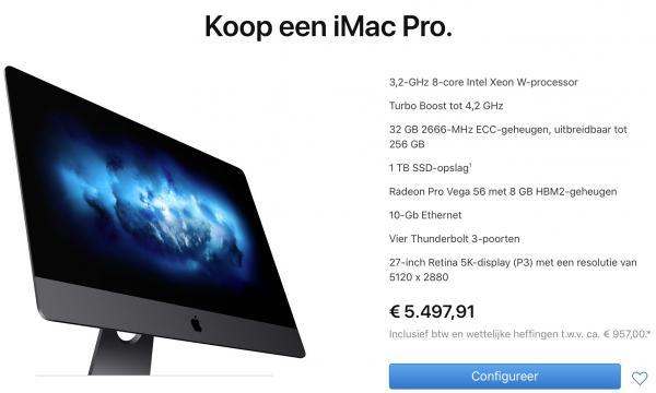 iMac Pro-Onbetaalbaar