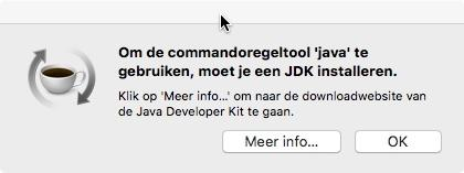 Commandoregeltool 'java'