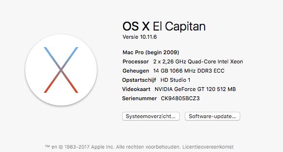 mijn huidige mac Pro