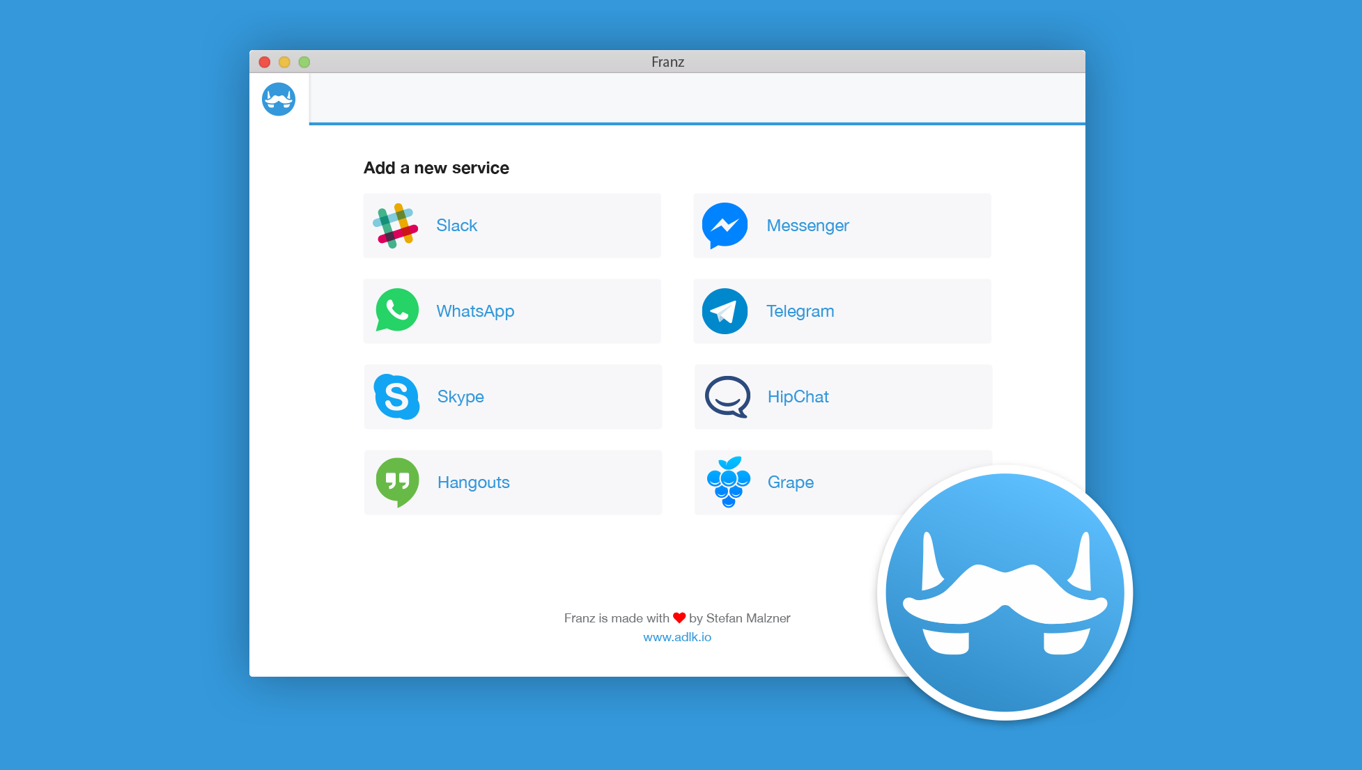 Franz: 8 chatdiensten in één handige Mac-app
