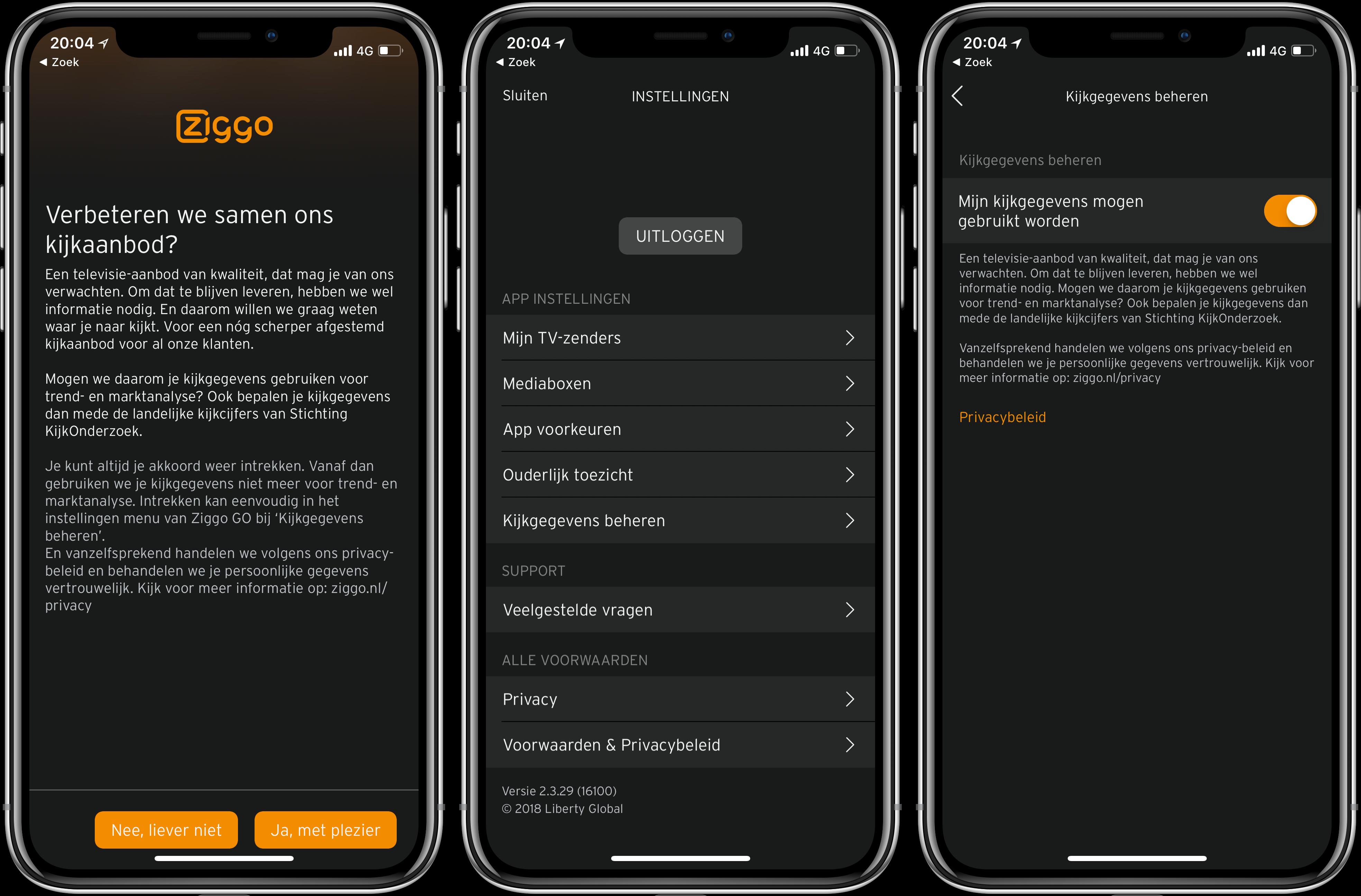 Ziggo Go-app verzamelt gegevens voor kijkonderzoek » One ...
